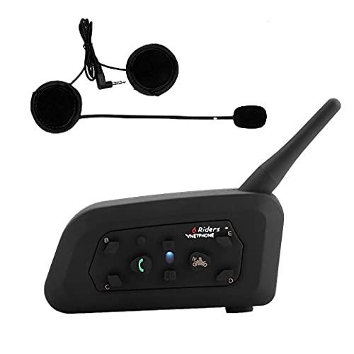 V6 Auriculares Intercomunicador Moto Bluetooth para Motocicletas,...