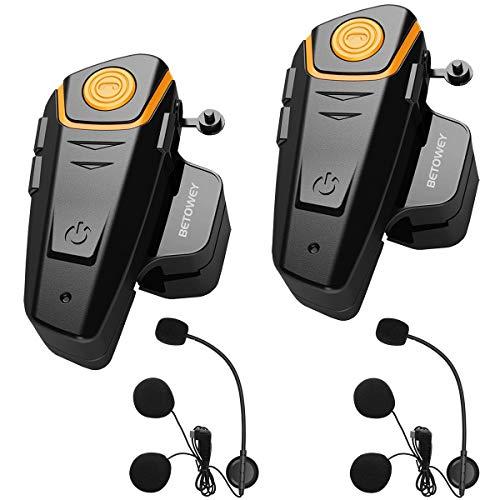 BETOWEY 2X BT S2 Intercomunicador Casco Moto Manos Libres...